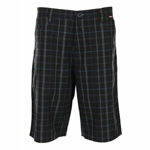 Matix Mens Leone Short Black/Plaid size 34
