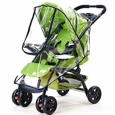 TraderPlus Universal Baby Stroller Rain Cover Umbrella Weather Shield Windpro...