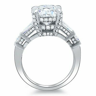1.80 Ct Asscher Cut Channel & Micro Pave Diamond Engagement Ring H,VVS1 GIA 14K 1