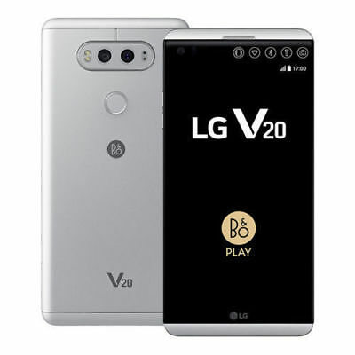 "64GB LG V20 H918 (T-Mobile) GSM Unlocked 5.7"" Smartphone - Silver /Titan US"