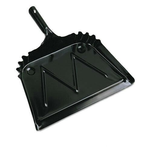 Boardwalk 04212EA 12 in. Metal Dust Pan w/ 2 in. Handle - Black New