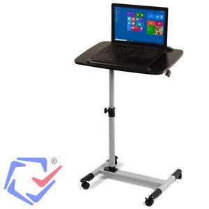 Mesa para proyector con ruedas carrito estante notebook for Mesa de ordenador con ruedas