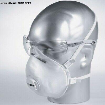 15x UVEX silv-Air 2312 FFP3 Mundschutz mit Ventil Atemschutzmaske Maske
