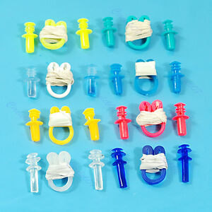 Swimming-Soft-Nose-Clip-Ear-Plug-Earplug-Water-Swim-New