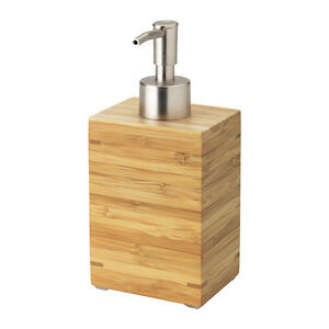 IKEA bamboo soap dispenser