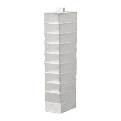 IKEA SKUBB WHITE 9 Compartment Hanging Closet Organizer for shoes clothes kids