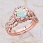 Opal Engagement & Band Ring Sets