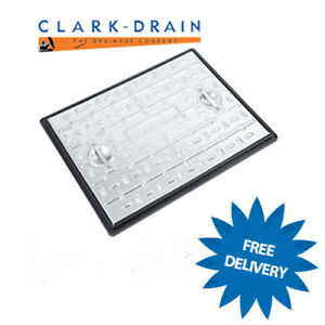 Manhole Cover & Frame 600x450 2.5Tonne Galvanised Steel PC6AG Access Inspection