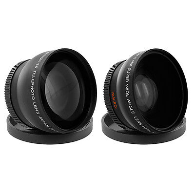 52MM 0.43X Wide Angle & 2.2X Telephoto Lens for Nikon D5100 D5000 D3200 D3100 for sale  Shipping to India