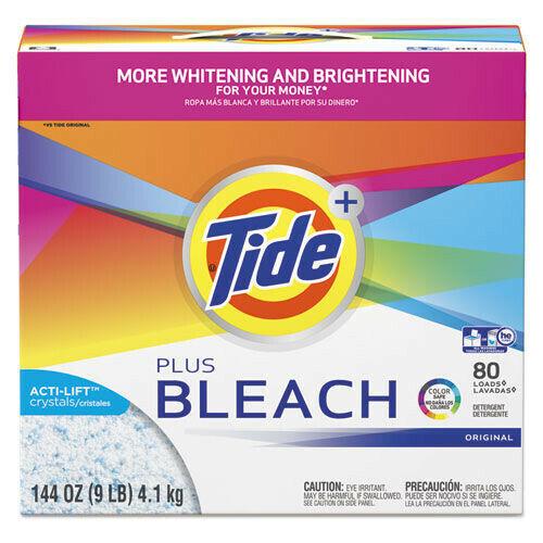 Tide 84998 Plus Bleach Original Scent 144 oz. Laundry Detergent Powder New