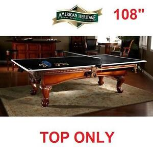 "NEW* AH CONVERSION TOP TENNIS TABLE - 116644933 - 108"" AMERICAN HERITAGE DROP SHOT PING PONG"