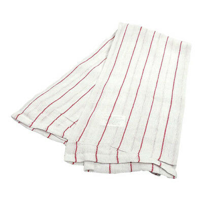 Rr Cr31606 Lintless Red Pin Stripe Glass Towel 15 X 25 12-pack