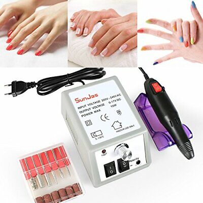 SunJas Torno para Uñas Profesional Lima de Uñas Pedicura Manicura Eléctrica