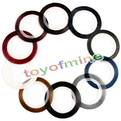 10 Rolls colore delle unghie decorazione di arte striatura S142
