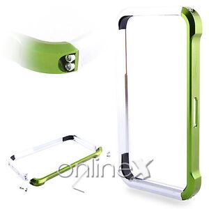 Carcasa-Bumper-Aluminio-Vapor-4-para-iPhone-4-Verde-y-Plata-en-Caja-a552