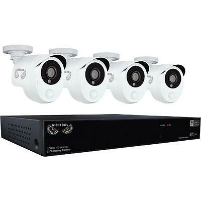 Night Owl HDA10P-841-BBPIR 4 Camera 8 Channel 2MP (1080P) DVR Video Security Sys
