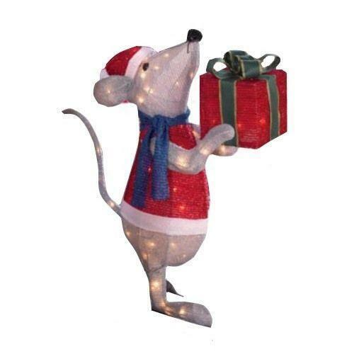 Tinsel christmas yard decorations ebay