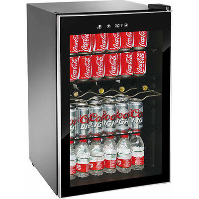 New 110 Can Beverage Refrigerator Mini Wine Fridge Soda Drinks Bar Cooler