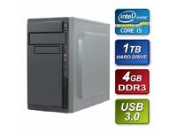 Intel i5 3.20GHz Quad Core 4GB RAM 1TB Hard Drive DVD-RW Prebuilt System