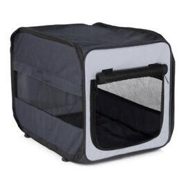 NEW RRP £30 Portable folding dog cat pet transporter crate 45 x 35 x 40cm