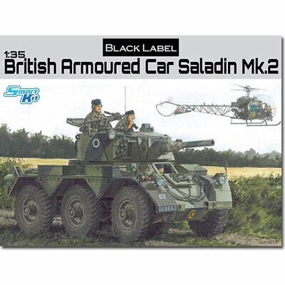 DRAGON 3554 British Armored Car Saladin Mk2 Black Label 1:35 Military Model Kit