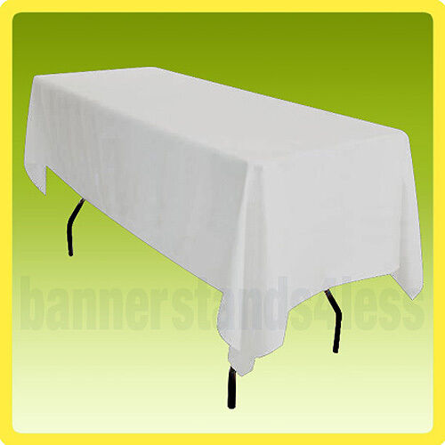 60x126 Table Cover Tablecloth Rectangle Wedding Banquet Event POLYESTER - White