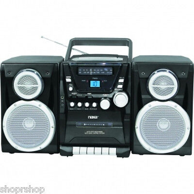 Portable Cd Recorder - NAXA Portable CD Player with AM-FM Stereo Radio Cassette Player-Recorder & Twin