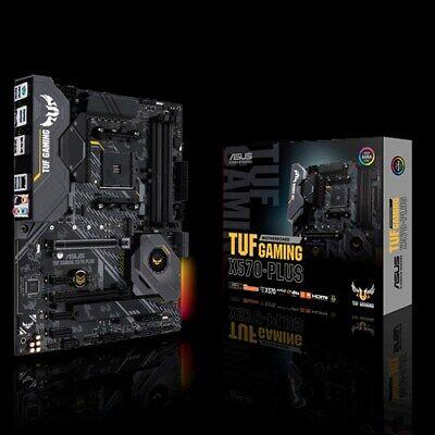 Motherboard Plus Cpu (Asus TUF GAMING X570-PLUS Motherboard CPU AM4 AMD Ryzen DDR4 Dual M.2 HDMI RGB)