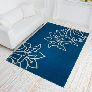 teppich blau ebay. Black Bedroom Furniture Sets. Home Design Ideas