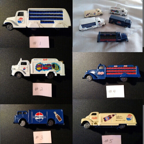 "*Choice* Collectible Pepsi Cola Diecast Metal & Plastic Truck approx 3-1/2""x 1"""