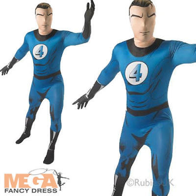 Fantastic 4 Adults Fancy Dress Superhero Mens Marvel Comic Book Costume Outfit - Fantastic 4 Costumes