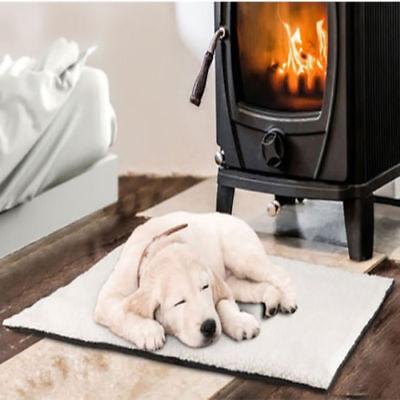 New Cream Magic Self Heating Thermal Cat Dog Animal Pet Warm Washable Bed Fleece
