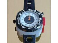 Vintage 1970s Heuer Supersport Wrist Timer/ Stopwatch, Original Box & strap Tag