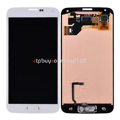 Home Flex + LCD Screen Touch Digitizer for Samsung Galaxy S5 i9600 G900A White on Rummage