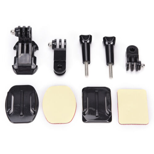Helmet Side Mount Kits Flat Curved Base Mounts for Go pro Hero 5/4/3+/3/2 YF