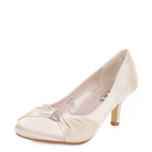Womens Low Heel Wedding Shoes  be96bb7e96ef