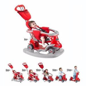 NEW, Smart Trike Bicycle for Kids All in One (6-in-1) from Stage 1-Stage 6- RED