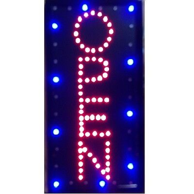 Animated Motion Led Business Vertical Open Sign Onoff Switch Bright Light Neon