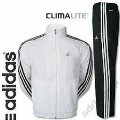 Adidas Mens Woven Tracksuit Zip Full ClimaLite Drawstring Elasticated Waist