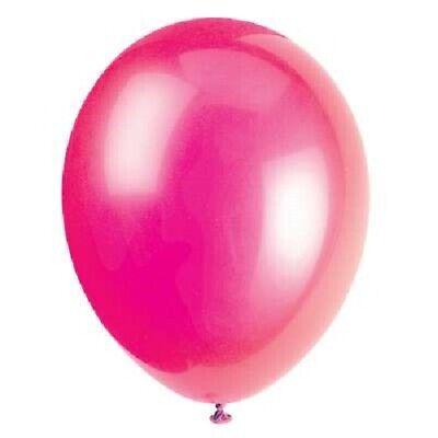 ex Balloons Helium Quality Plain Birthday Party Supplies (Fuschia Party Supplies)