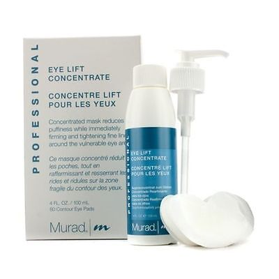 NEW Murad Professional Eye Lift Concentrate (with 80 Contour Pads) 4oz Womens Lift Eye Contour Concentrate