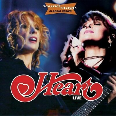 Heart   Live On Soundstage  Classic Series   New Cd  With Dvd
