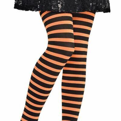 Amscan Child Orange & Black Striped Tights Halloween Accessory Child M/L - Halloween Orange Striped Tights