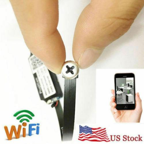 Spy Nanny Cam 1080p HD wireless WiFi Mini Hidden pinhole DIY
