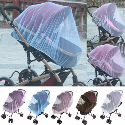 Universal Baby Stroller Mosquito Insect Net Cover Fit Pram Bassinet Car Seat Bedding