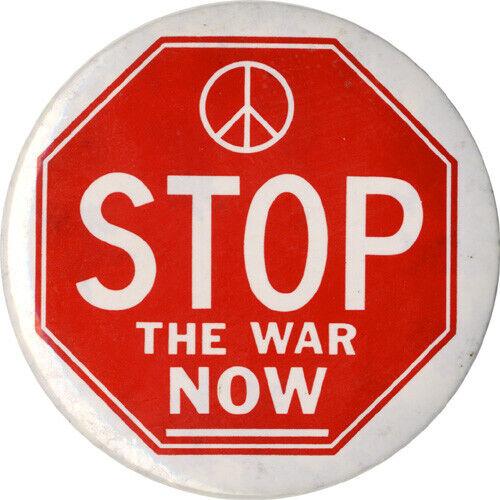 c. 1970 Vietnam Era STOP THE WAR NOW Peace Protest Button (4454)