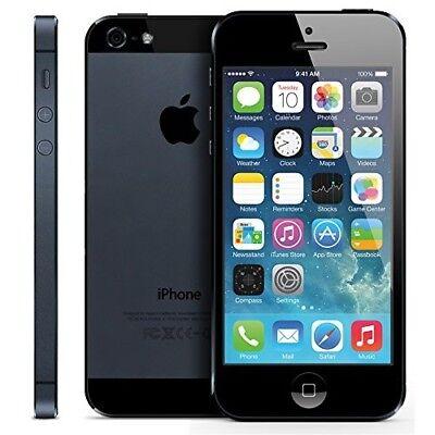 New iPhone 5 Black 32GB Apple Brand Unlocked Sim Free Smart Phone Sealed Boxed d'occasion  Expédié en Belgium
