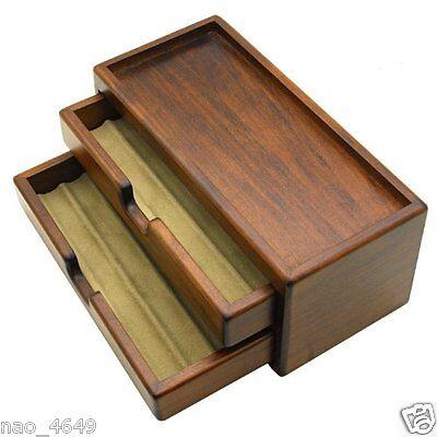 F/S Fountain Pen Case Cargo Storage Pencil Box Magazine Wooden Craft Made in JP