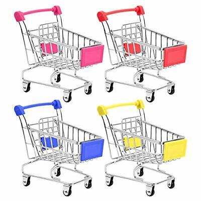 Bestsupplier Mini Supermarket Handcart 4 Pcs Mini Shopping Cart Supermarket Toy