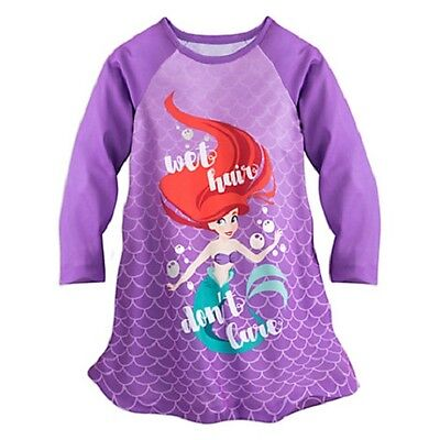 DISNEY STORE Girls' 4 The Little Mermaid Nightgown or Sleep Shirt NWT